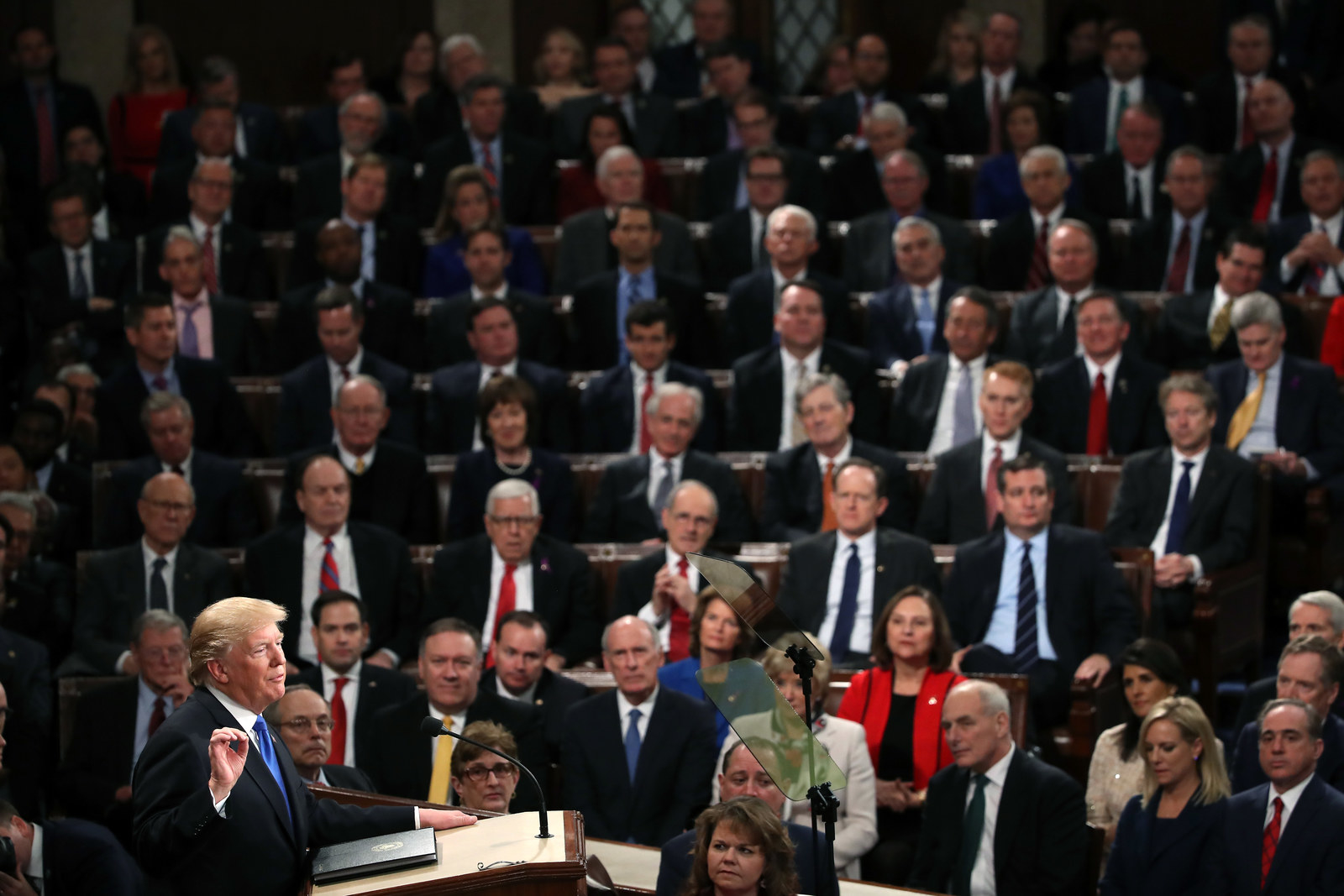 President Trump delivers his first State of the Union address on Jan. 30.