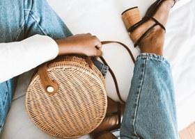 Wicker purses