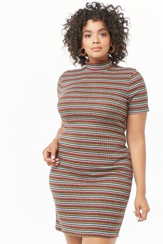 5150e07fa072 A striped sweater dress, because this'll feel like your favorite pullover  you sadly left behind JUST for the day. It will be there when you get home,  ...