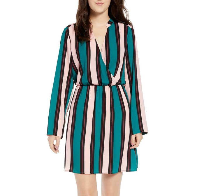 13492c313ddd4 A long-sleeved cinched dress, because this'll both make you look like an  adult and get you out the door in time to actually get to work on time.