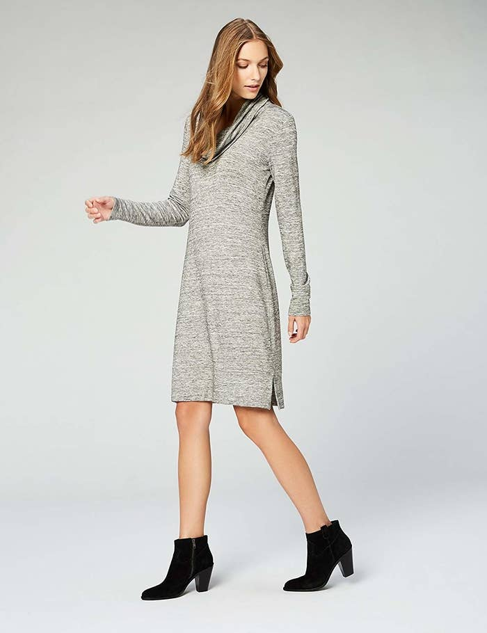 """Promising review: """"This dress is like wearing a sneaky sweatshirt. It's so comfortable and soft, I'd wear it to bed. It fits closely, but not tightly, around the bust, and flows loosely from there skimming over everything else. It looks cute with lots of different types of shoes, meaning it can stretch seasons for me!"""" —GenevieveGet it from Amazon for $30 (available in sizes XS–XXL and two colors)."""