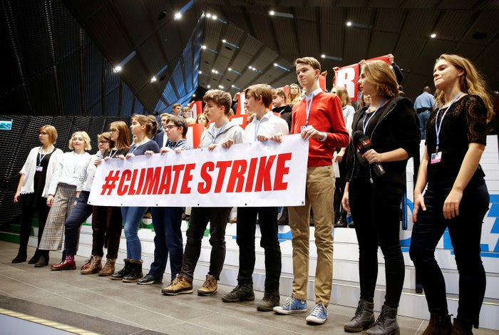 A climate protest during the talks.