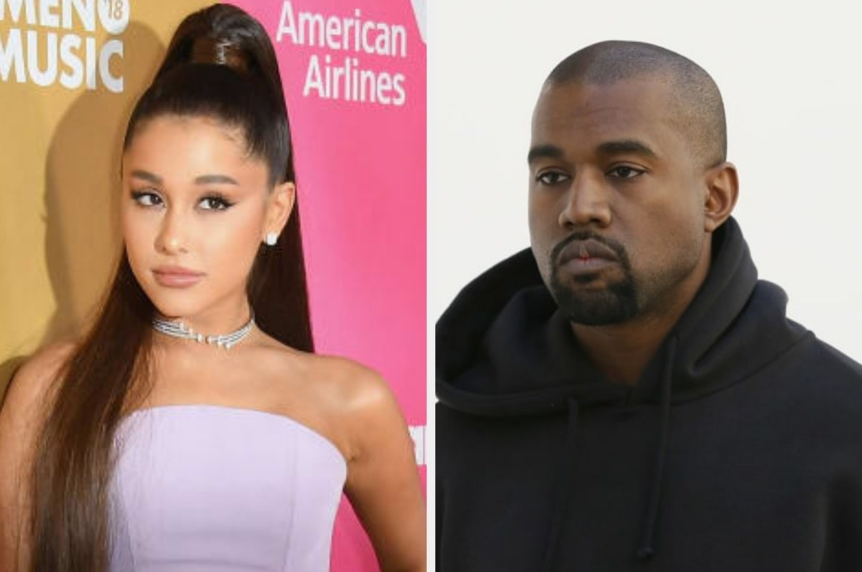 Kanye West Hit Back At Ariana Grande In A Series Of Tweets About His Mental Health