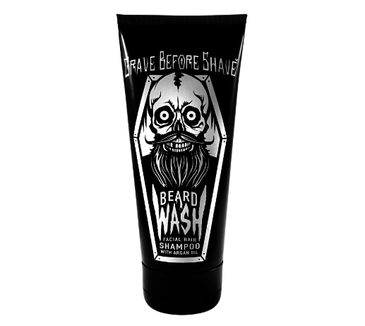 the tube of beard wash