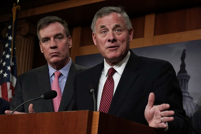 Sens. Mark Warner and Richard Burr, who lead the Senate Intelligence Committee.