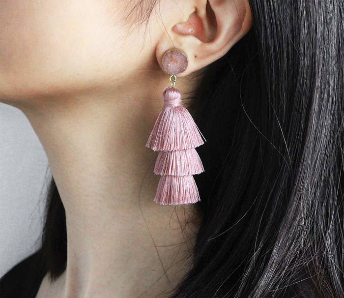 c1cc34622173 A pair of tassel earrings that won t be a hassle to get — THANK YOU