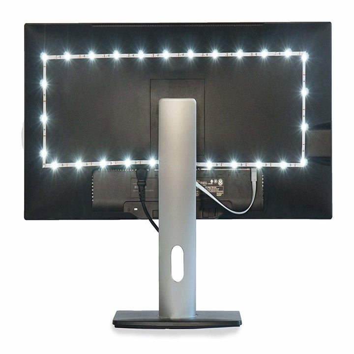 The lights installed on the back of a TV