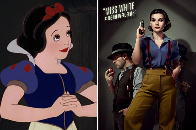 This Artist Reimagined The Disney Princesses As Noir-Style Characters And, TBH, It's Everything