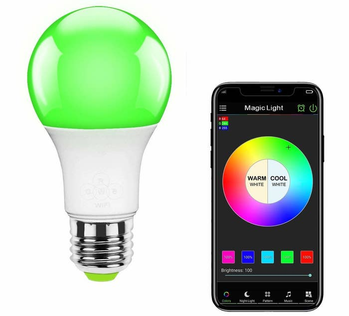 9fbe8582381 A Bluetooth light bulb that can be programmed to turn on at a certain hour  every morning via any smart device.