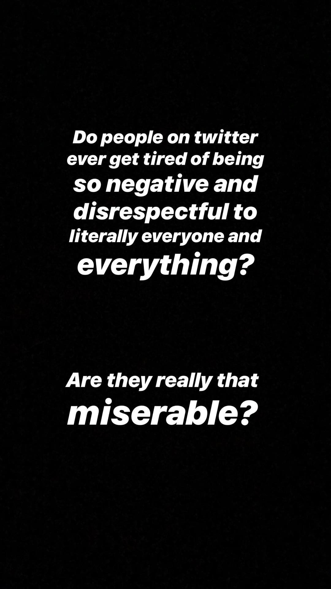 Over the weekend, the 22-year-old actor posted some messages on her  Instagram Story  explaining why her fans won't be seeing her on Twitter for a while.