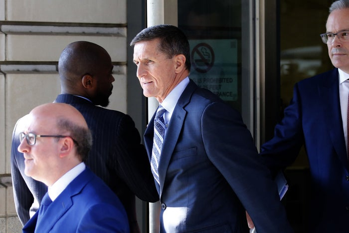Michael Flynn leaves the federal courthouse in Washington, DC, on Dec. 1, 2017.