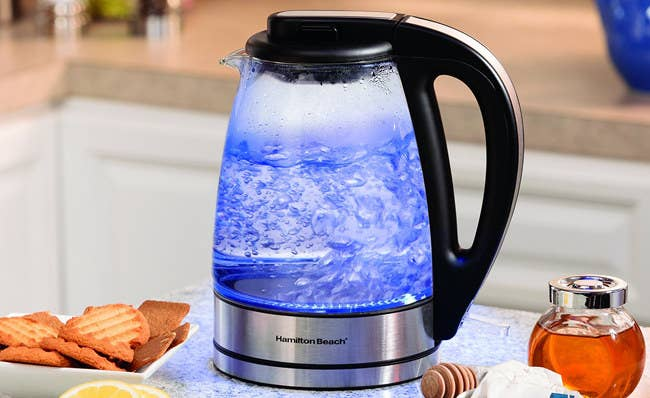 """Promising review:""""I love this kettle so much that I recently bought a second one for my son who 'borrowed' mine quite often. I love it for quick hot water for tea. He loves his for quick hot water for instant oatmeal. Mine has worked perfectly for two years. It is reasonably priced and it seems to boil water faster than my stove top kettle."""" —Sasha Get it from Amazon for$29.99."""