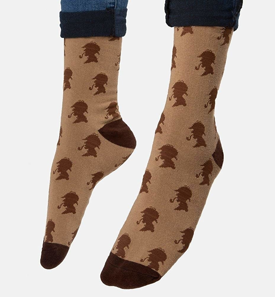 """Promising review: """"Love my Sherlock Holmes socks! They are unique and stylish. I feel so well read!"""" —Elaine ZurofskyGet it from Amazon for $10.35+ (available in 29 designs)."""