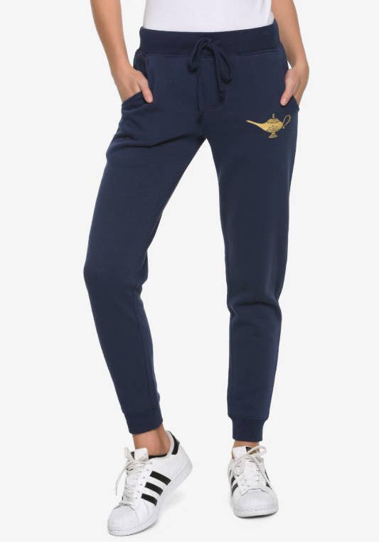 5a3f0bd29 A pair of Aladdin joggers that will take your winter-hibernation wardrobe  to ~a whole new world~.