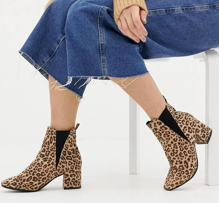 2b272a8cdfc Wide-fit leopard print ankle booties because it s almost 2019 and it s time  to finally recognize leopard print as the neutral that it is