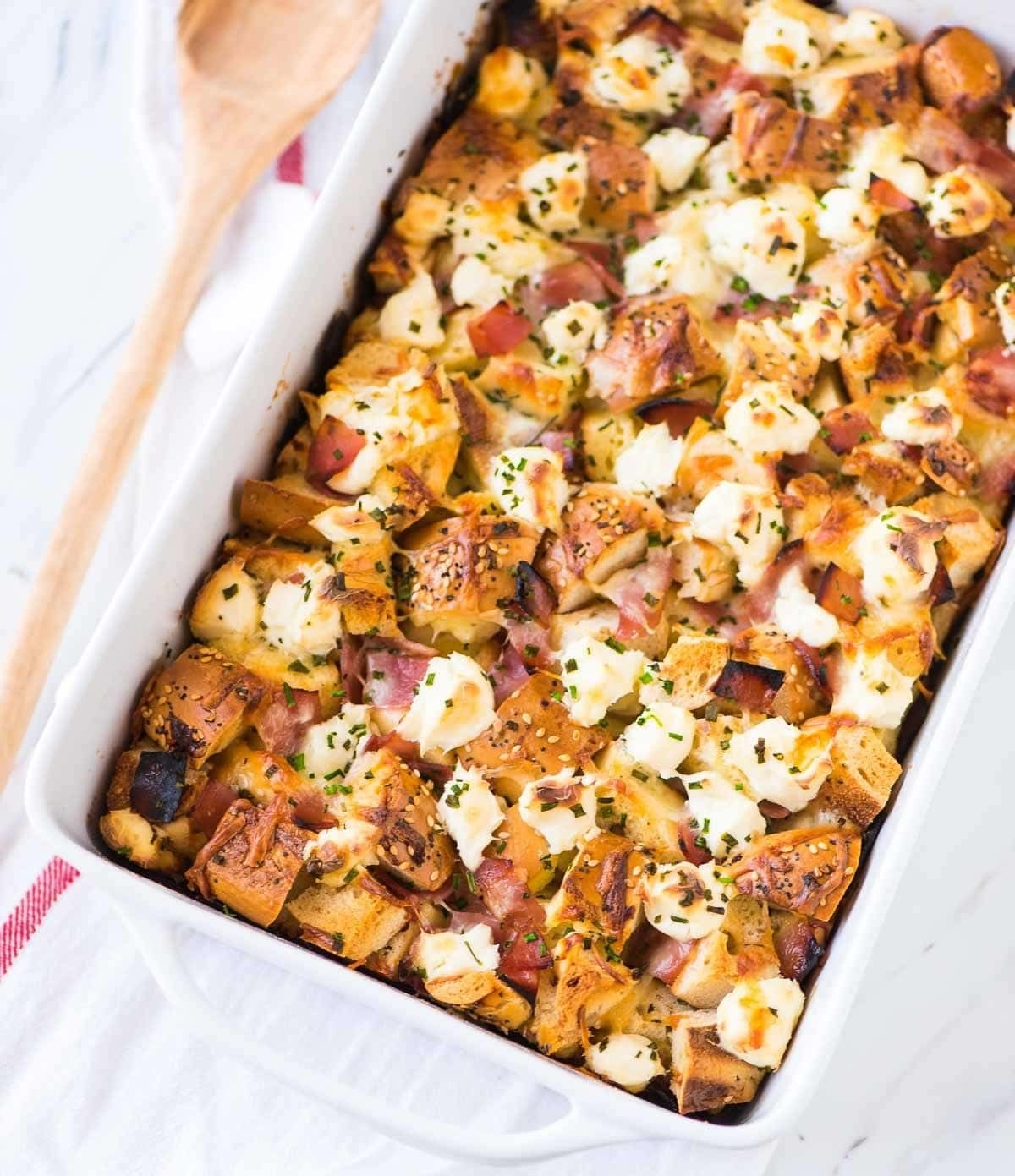 Top this casserole with some lox, tomato, and red onion if you want to get really fancy. Get the recipe.