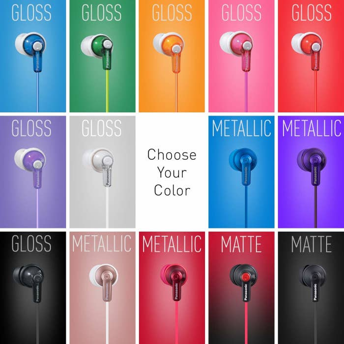 the wired ear buds in many colors