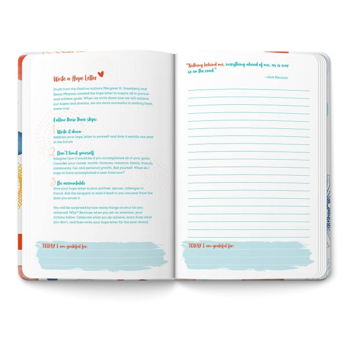 """Corso.com, the same company that brought you the Mindful Notebook, has collaborated with Live Happy Magazine for a NEW happiness-themed """"On a Positive Note"""" notebook. Inside you'll find inspiring quotes, tips, statistics and activities in addition to space to jot down work notes, grocery lists and your daily gratitude list to keep you organized, focused and inspired in the new year."""