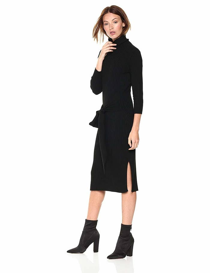 fddf0ef73ab A cable stitched sweater dress you can stay comfortable in all day