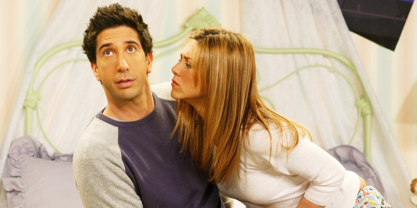 "Rachel Greene and Ross Geller from  Friends  -  ""They were such a beloved couple, but I just never understood why. They were both equally annoying alone, but together they were the worst. Rachel and Ross were awful together.""  — sarahc4cf36d8c4"