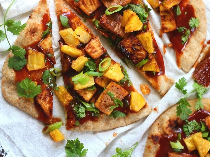 If you're someone who likes pineapple on their pizza AND tofu, look no further than this recipe.