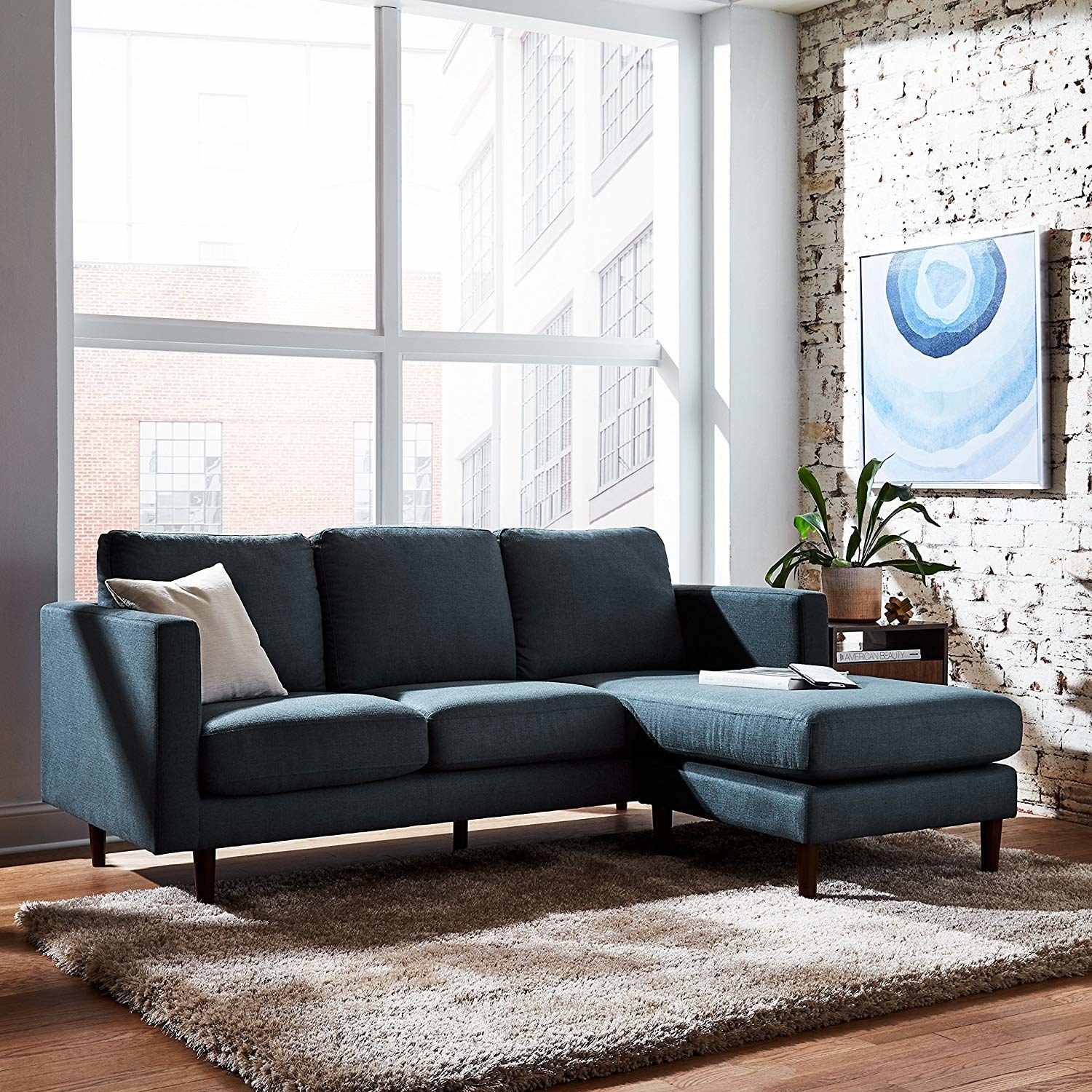 The sectional sofa in denim