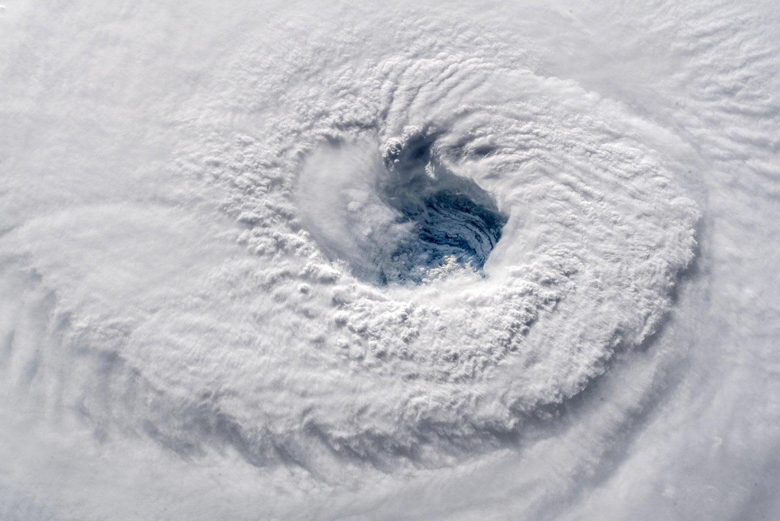 Hurricane Florence churns through the Atlantic Ocean toward the East Coast on Sept. 12.