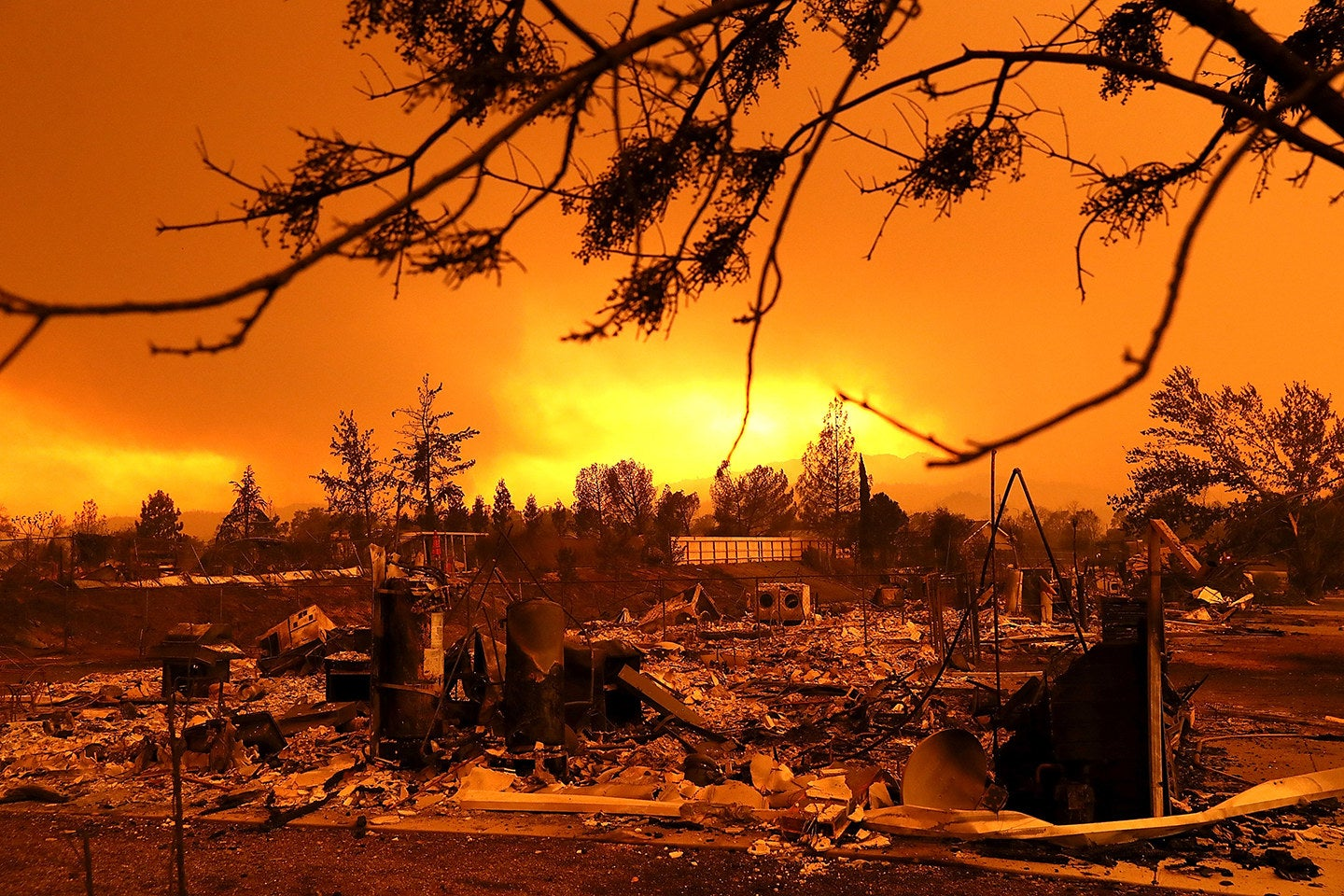 Homes destroyed by the Carr fire, Redding, California, July 27.