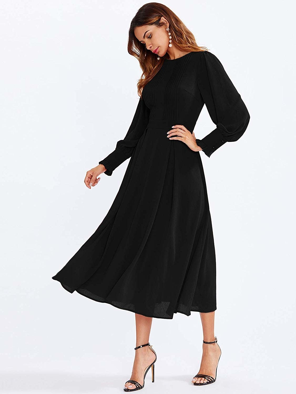 d30f40296c0 A pleated lantern-sleeve dress to make all of your panic-filled
