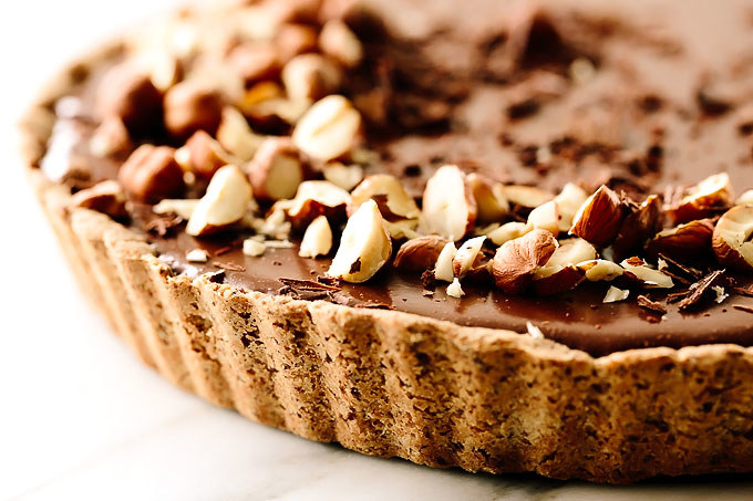 I can barely stop drooling over this recipe for a chocolate-y mousse tart.