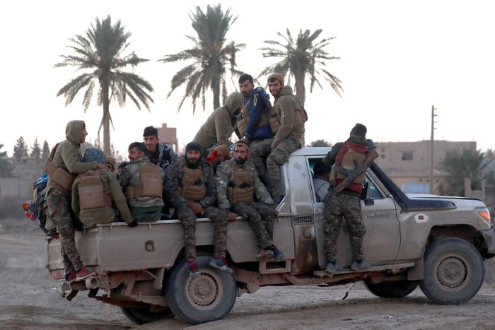 Fighters from the US-allied Syrian Democratic Forces retook the former ISIS stronghold of Hajin on Saturday.