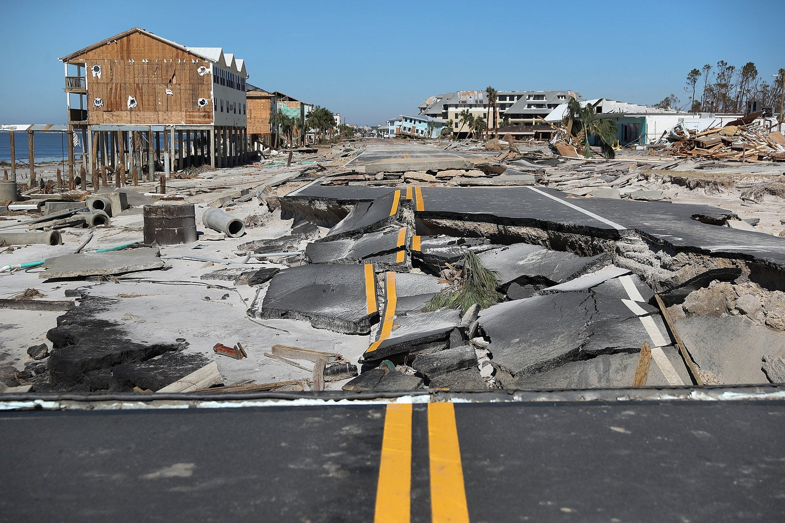 Route 98 in Mexico Beach, Florida, was decimated after Hurricane Michael passed through the area in October.