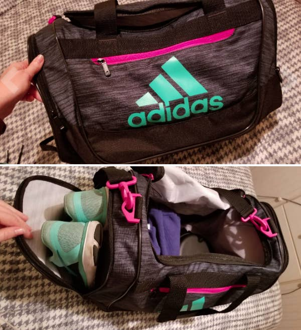 dfcab2f192 A gym bag with pockets for shoes and room for everything you need to have  the best workout yet.
