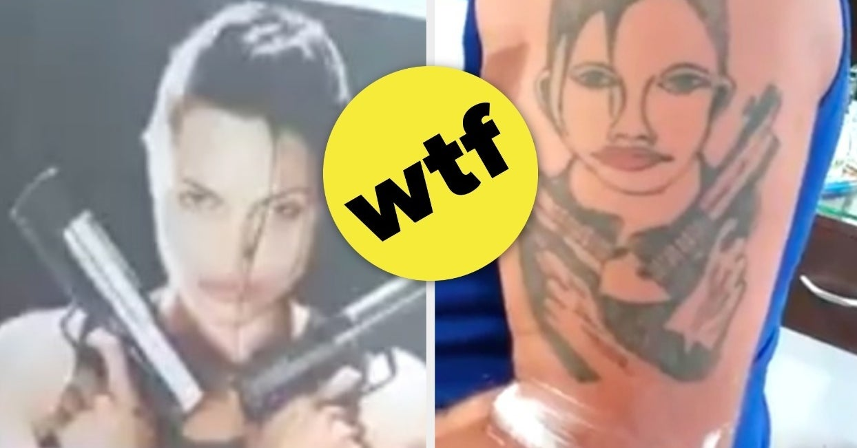 A Guy Got Angelina Jolie\'s Face Tattooed On His Arm, And It\'s The ...