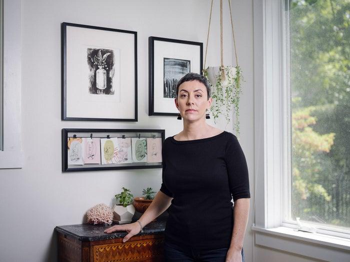 Marissa Hoechstetter at her home in Massachusetts.