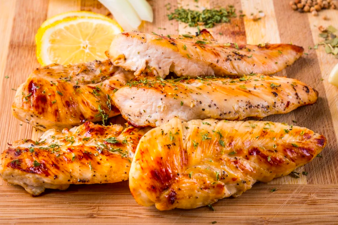Lemon Pepper Chicken  -  One small, undiscussed advantage to the air fryer is that it makes cooking for one super convenient and less wasteful. Take this lemon pepper chicken recipe, which will pop out a juicy, lemon-ey chicken breast in just 15 minutes.