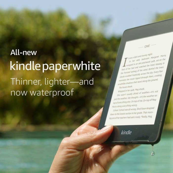 So many people don't know you can have library books sent to your e-reader!!! Oh and this new version is lighter, thinner, and has 2x the storage of older Kindle models. You can also use it with Audible and Bluetooth headphones so you can listen to your story. Get it from Amazon for $99.99+ (available in 8 or 32 GB).