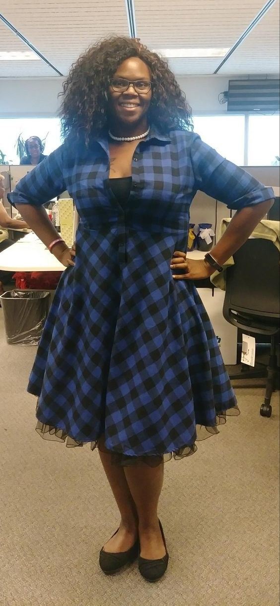 the dress in blue checkers