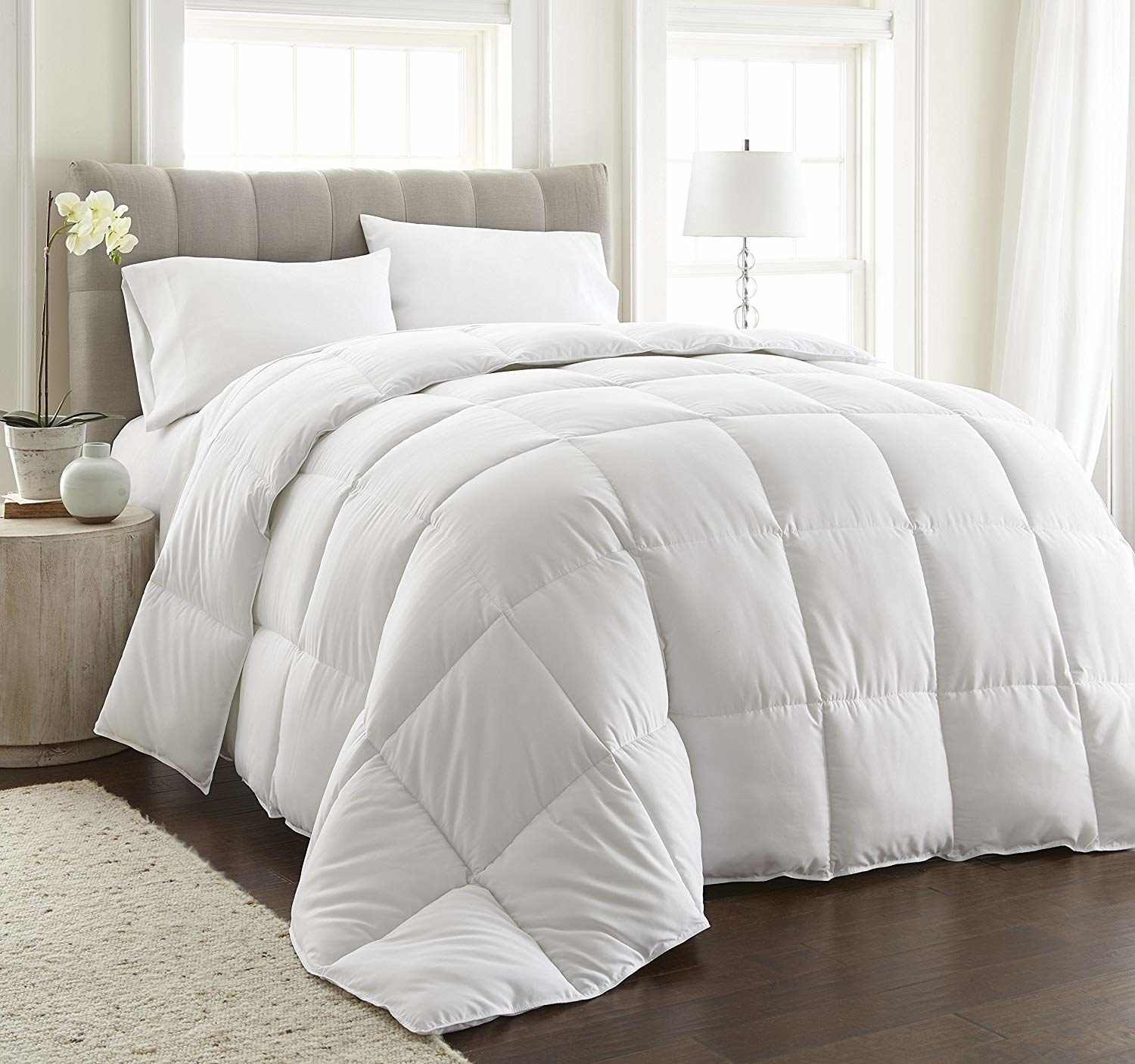 Quilted plush duvet without cover