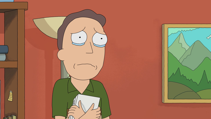 Explanation: Jerry is pretty misunderstood. Yeah, he's pathetic, but he's clearly in touch with his feelings and he doesn't reek of toxic masculinity. It's also pretty clear that the apple doesn't fall far from the tree when you think about how awesome his son Morty is. Better be thankful for Summer's genes up in there!