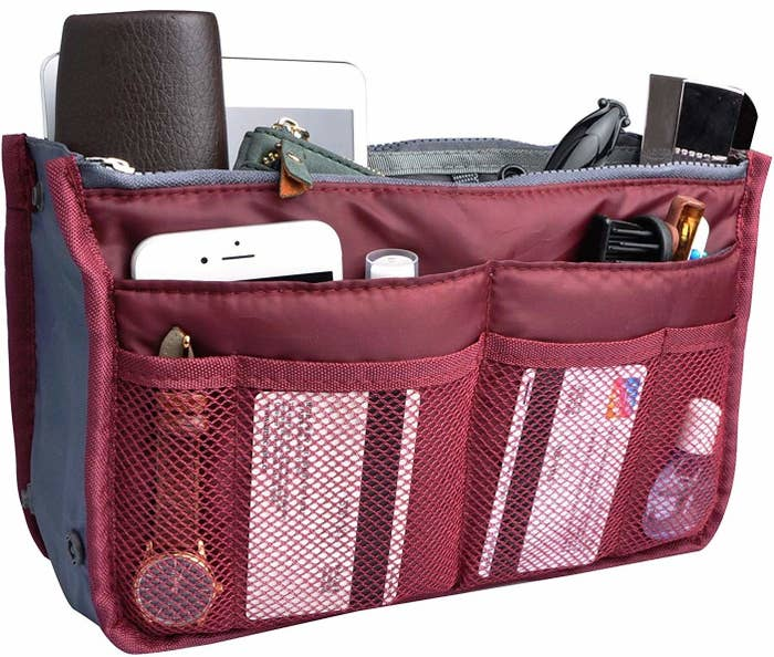 Made with durable nylon, this organizer is lightweight, sturdy, and waterproof —plus it comes in comes in three sizes and 30 colors!