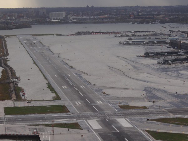 LaGuardia Airport flooded due to Superstorm Sandy in October 2012.