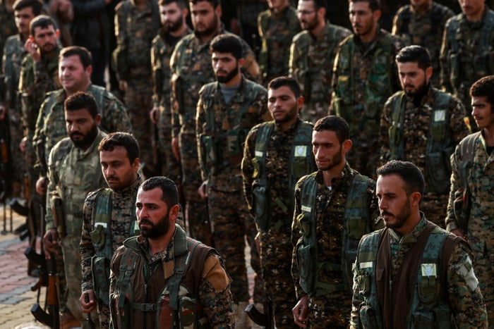 Kurdish fighters in Syria.