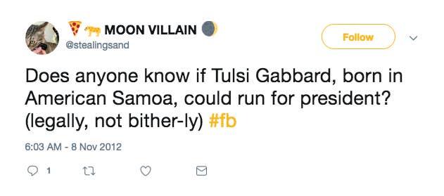 Tulsi Gabbard Was Born In American Samoa  Her Presidential Run Could