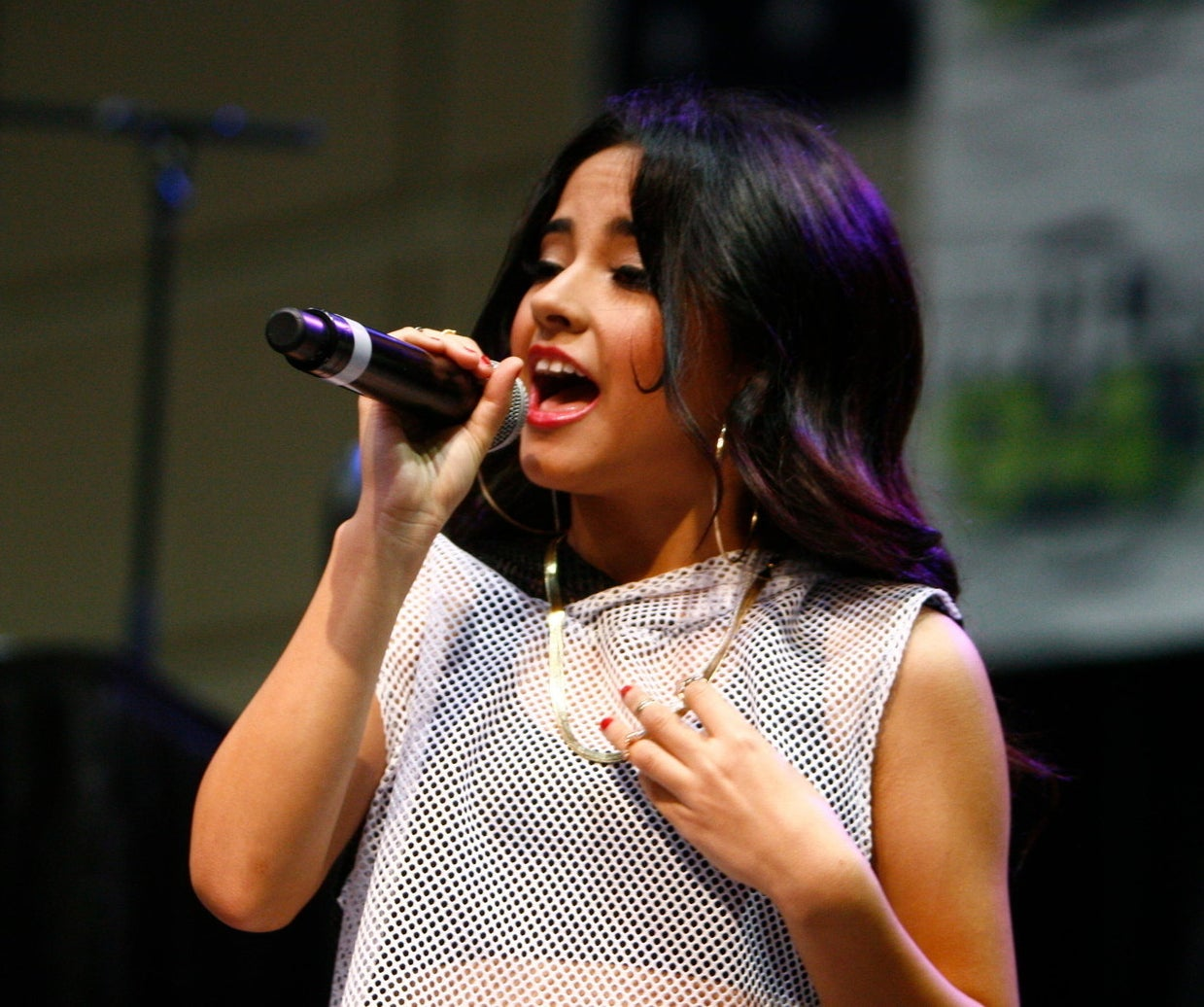 16-year-old Becky G performing in 2013.