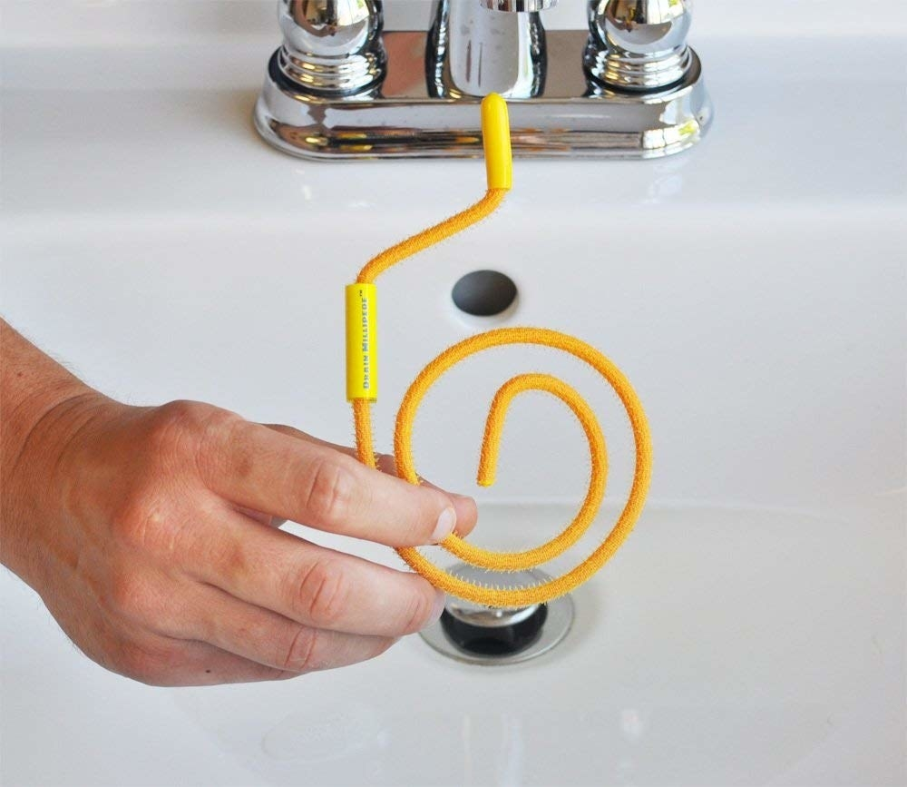"Promising review: ""I was amazed at what it pulled out! Gobs of hair from what was probably years ago, over and over again. I kept inserting it until just a little past when it stopped, and kept pulling out more and more gunk. When all was said and done, I had a clean, free-flowing drain. An easy five-star rating for me."" —Mr. Thomas J. LongPrice: $5.01"