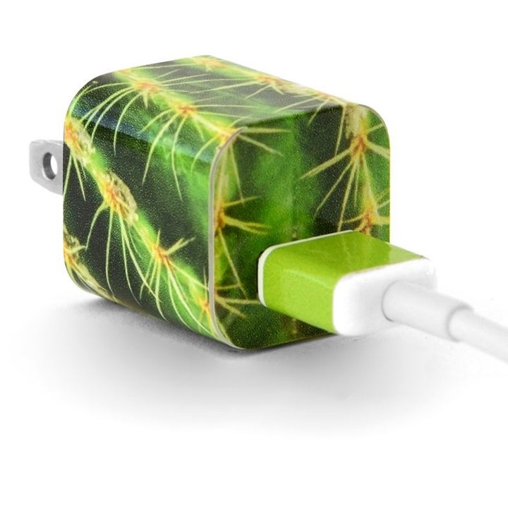 charger with cactus design