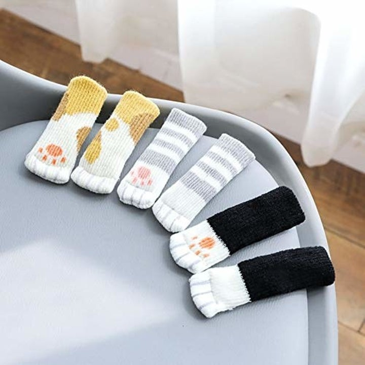 The socks in a variety of designs