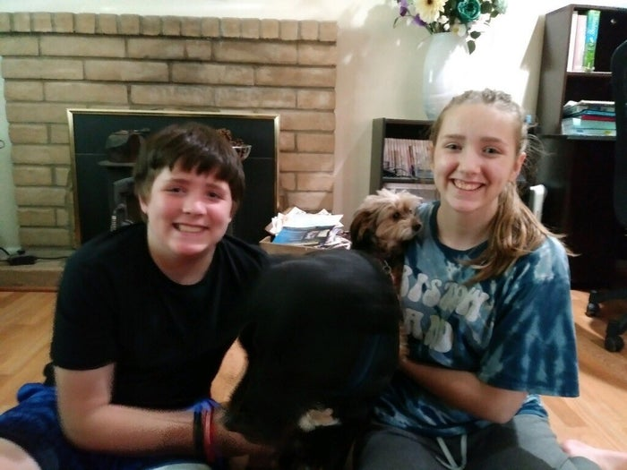 Nate Lasater, 13, and his sister, Lauriella.