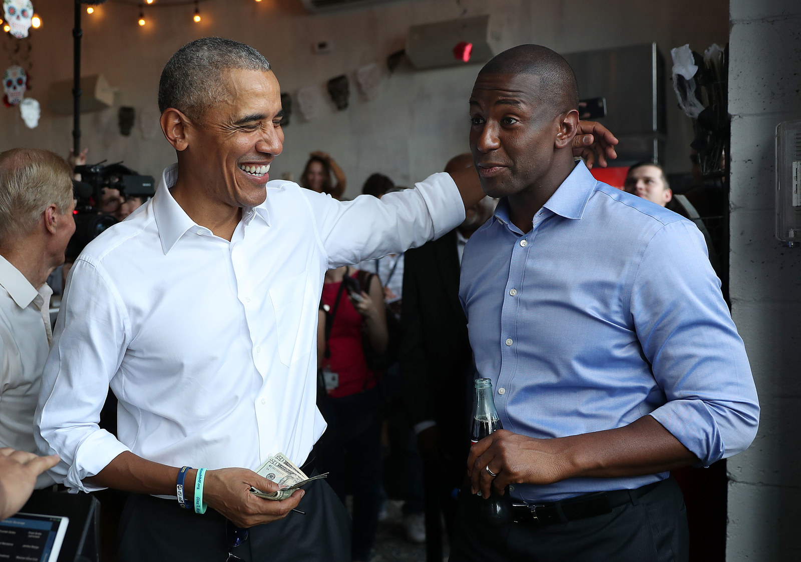 Obama and Gillum on Nov. 02, 2018 in Miami, Florida.